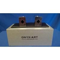 ONYX-ART CUFFLINK SET - ACE OF SPADES