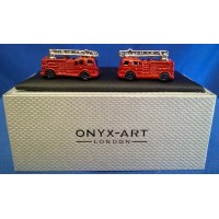 ONYX-ART CUFFLINK SET - FIRE ENGINE