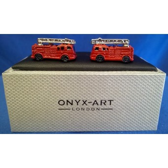 ONYX-ART CUFFLINK SET - FIRE ENGINE