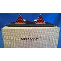 ONYX-ART CUFFLINK SET - RED SNOOKER BALLS