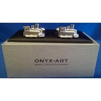 ONYX-ART CUFFLINK SET - STEAM TRAIN