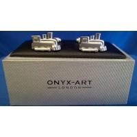 ONYX-ART CUFFLINK SET - STEAM TRAIN