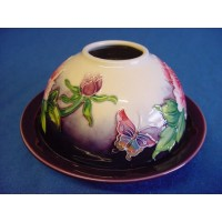 OLD TUPTON WARE BUTTERFLIES TEA LIGHT CANDLE HOLDER
