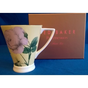 PORTMEIRION TED BAKER ROSIE LEE BONE CHINA MUG - LEMON COLOUR