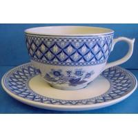 SPODE BLUE ROOM JUMBO CUP & SAUCER - GERANIUM