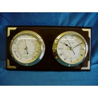 WILLIAM WIDDOP 2 DIAL BAROMETER & CLOCK