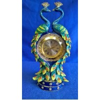 JULIANA TREASURED TRINKETS PEACOCK CLOCK & TRINKET BOX