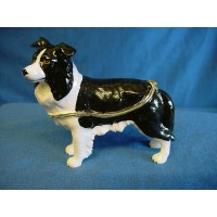 JULIANA TREASURED TRINKETS BORDER COLLIE TRINKET BOX