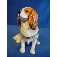JULIANA TREASURED TRINKETS CAVALIER DOG TRINKET BOX