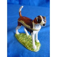 JULIANA TREASURED TRINKETS FOXHOUND TRINKET BOX