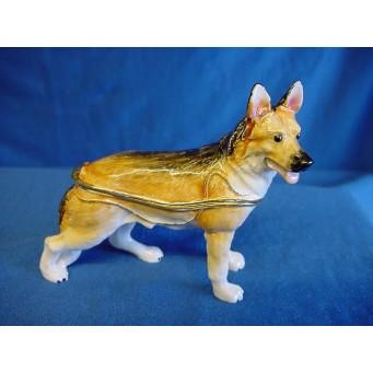 JULIANA TREASURED TRINKETS GERMAN SHEPHERD DOG TRINKET BOX