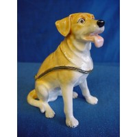 JULIANA TREASURED TRINKETS GOLDEN LABRADOR TRINKET BOX