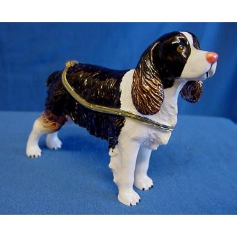 JULIANA TREASURED TRINKETS SPRINGER SPANIEL TRINKET BOX