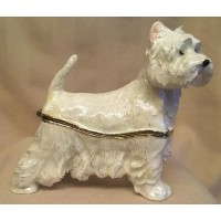 JULIANA TREASURED TRINKETS WESTIE METAL TRINKET BOX