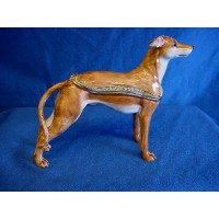 JULIANA TREASURED TRINKETS WHIPPET DOG TRINKET BOX
