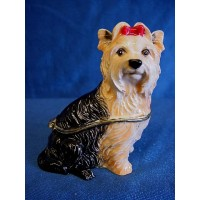 JULIANA TREASURED TRINKETS YORKSHIRE TERRIER TRINKET BOX