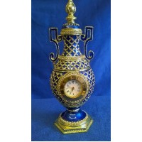JULIANA TREASURED TRINKETS BLUE VASE CLOCK TRINKET BOX